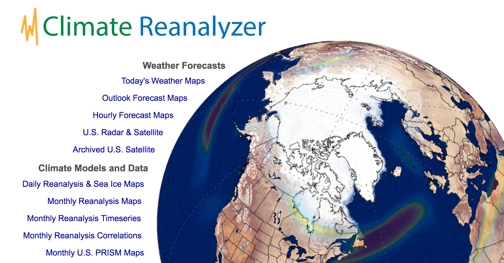 Data Visualization using Climate Reanalyzer